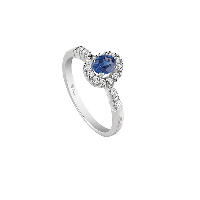 ANELLO  PRINCIPESSA SALVINI ZAFFIRO e diamanti REF 20068860---VENDUTO---